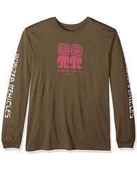 RVCA Bonzer Aliens Long Sleeve T-shirt - Multicolor