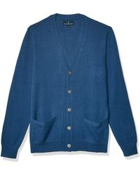 Buttoned Down Cashmere Cardigan - Blue