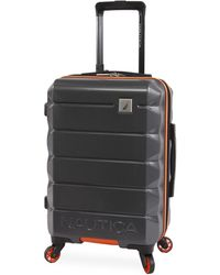 """Nautica Quest Hardside Spinner Carry On Luggage 21"""" - Gray"""
