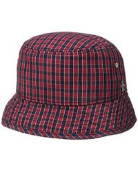 Lyst - Original Penguin  mini Check  Bucket Hat in Blue for Men c7c2a7ead856