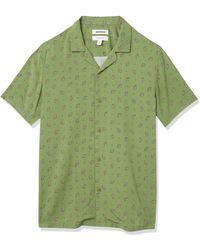 Goodthreads Slim-fit Short-sleeve Camp Collar Hawaiian - Green