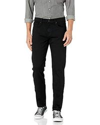 J Brand Kane Straight-fit In Trivor Black