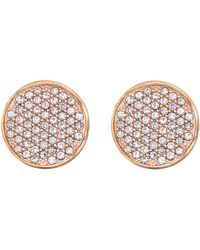 Tommy Hilfiger Jewelry Stainless Steel Rounded Icon Earrings - Metallic