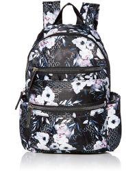 Anne Klein Pleated Pocket Backpack - Black