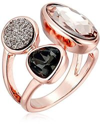 Kenneth Cole - Supercharged Collection Black Diamond, Blush And Druzy Stone Cluster Ring, Size 7.5 - Lyst