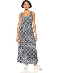Amazon Essentials Patterned Tank Waisted Maxi Dress Dresses - Blu