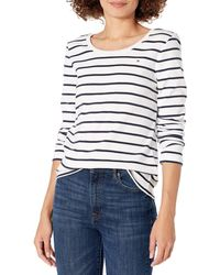 Tommy Hilfiger Long Sleeve Scoop Neck Tee - White