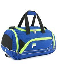 464443c89d Lyst - Fila Major Barrel Duffel Bag in Blue for Men