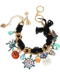 Betsey Johnson Spooky Mixed Charm Bracelet - Multicolor