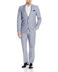 Ben Sherman - Two Button Slim Fit Glenplaid Window Suit - Lyst