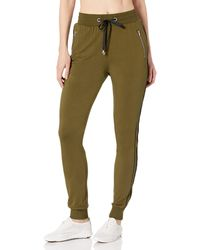 X By Gottex Side Piping Zipper Pocket Track Pants - Green