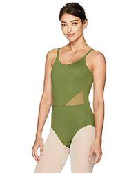 Danskin New York City Ballet Mesh Cut-out Cami Leotard - Green