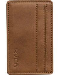 RVCA Clean Card Wallet - Brown