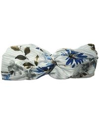 BCBGeneration Pinstripe Floral Headband, Gray, One Size