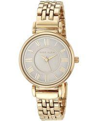 Anne Klein Ak/2159svsv Silver-tone Bracelet Watch - Metallic