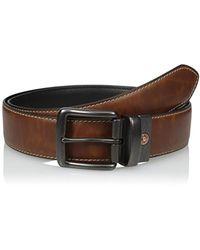 Levi's 1 1/2 In. Plaque Bridle Belt With Snap Closure - Black