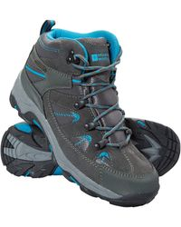 Mountain Warehouse Rapid S Waterproof Boots -suede & Mesh Upper Walking Shoes - Multicolour