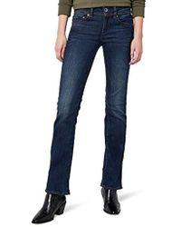 G-Star RAW Midge Saddle Mid Waist Bootcut Jeans para Mujer - Azul