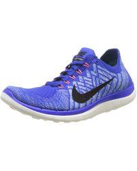 Nike Free 4.0 Flyknit - Blue