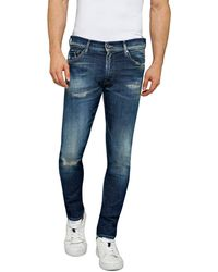 Replay Jondrill Aged 10 Years Jeans Skinny Fit Blue in Size 33W 32L - Bleu