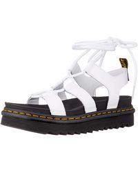 Dr. Martens Nartilla Hydro Wrap-around Platform Sandals - White