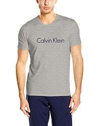 Calvin Klein S/S Crew Neck Maglietta Uomo - Grigio