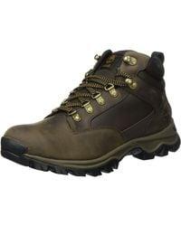 Timberland Keele Ridge Waterproof Leather Mid - Marron