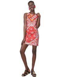 Desigual Dress Sleeveless Lisa Red - Rouge