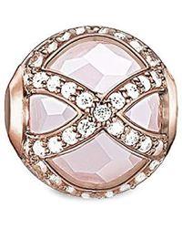 Thomas Sabo KARMA Maharani K0136-417-9 Drops pour femme en argent plaqué or rose et zircone blanc