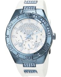 Guess - S Analogue Quartz Watch With Stainless Steel Strap W0653l2 - Lyst