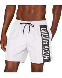 Calvin Klein Medium Drawstring Boxer - Blanc