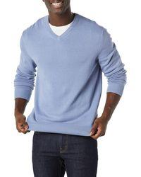 Amazon Essentials V-neck Jumper - Blue