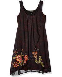 Desigual Dress Straps Julie Black Vestido - Negro