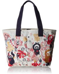 Kipling Congratz Fabric And Beach Bag - Multicolour