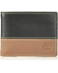 Timberland - Hunter Leather Passcase Trifold Wallet Hybrid Portafogli - Lyst