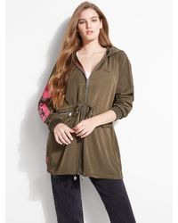 Guess Azure Parka Quilted Jacket - Green