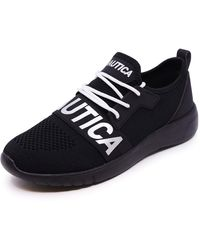 Nautica Fashion Sneaker Lace-Up Jogger Running Shoe-Anoki-Black-7.5 - Bleu