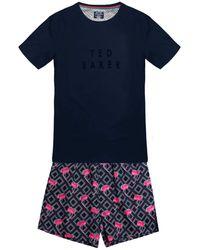 Ted Baker Kurzer Pyjama Pyjama Set - Blue