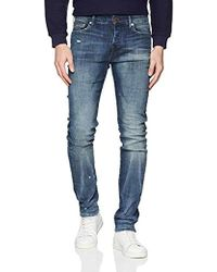 True Religion Rocco Comfort Wash Jeans Slim Uomo - Blu