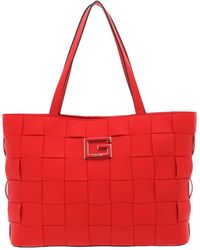 Guess Liberty City Shopper Tote Poppy - Rosso