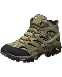 Merrell Moab 2 Leather Mid Gtx High Rise Hiking Shoes - Multicolour