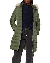 Tommy Hilfiger Tjw Essential Hooded Down Coat Jacket - Green
