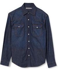 Calvin Klein Archive Western Camicia - Blu