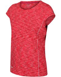 Regatta S/ladies Hyperdimension Wicking Active Running T Shirt - Red