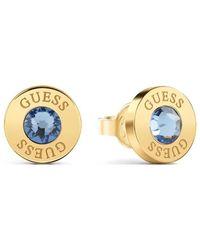 Guess Indovinate cristalli orecchini brillanti blu chirurgico oro in acciaio inossidabile placcato UBE78098 [AC1151] - Multicolore