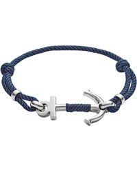 Fossil Non métallique Bracelet en corde - JF02932040 - Bleu