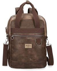 Pepe Jeans Miller Brown Laptop Backpack 15,6 ́ ́ With Shoulder Strap