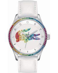 Lacoste - Reloj Análogo clásico para Mujer de Cuarzo con Correa en Cuero 2000997 - Multicolor