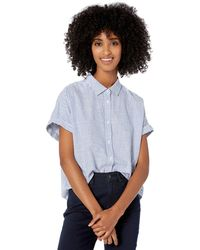 Goodthreads - Washed Cotton Short-sleeve Shirt Blue Classic Stripe - Lyst