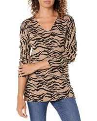 Amazon Essentials Tunika/Sweatshirt mit V-Ausschnitt - Mehrfarbig